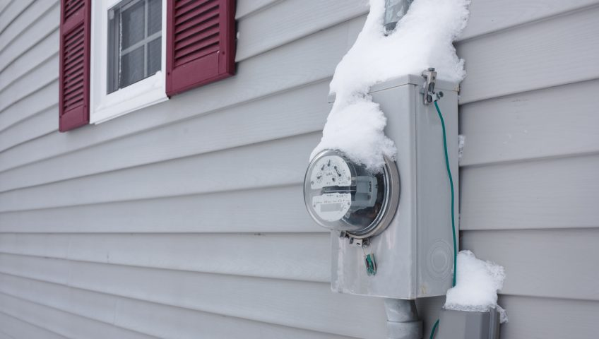 Frozen Electrical Utility Meter